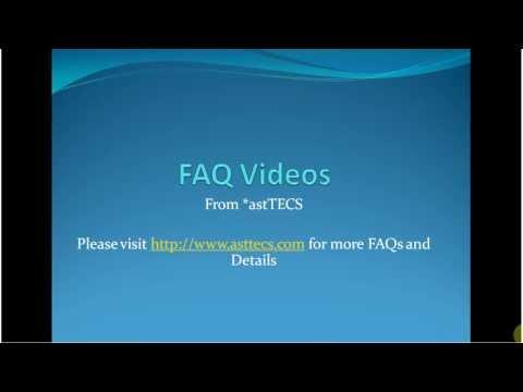 Error: Too Many Open Files - FAQ Videos by astTECS - ast001