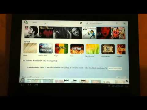 Sony Music Unlimited on Android-Tablets - Review