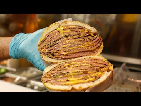 This New Jersey Deli Makes A Giant Pork Roll Sandwich
