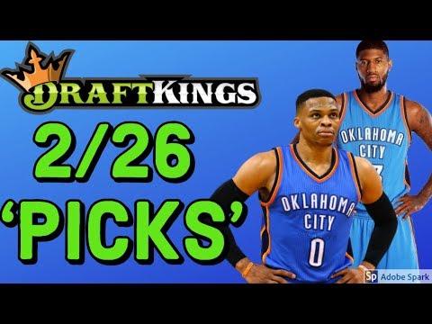 DRAFTKINGS NBA TUESDAY 2/26/19 PICKS   DFS NBA PICKS STRATEGY