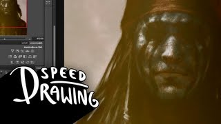 Speed Drawing: Johnny Depp as Tonto in The Lone Ranger