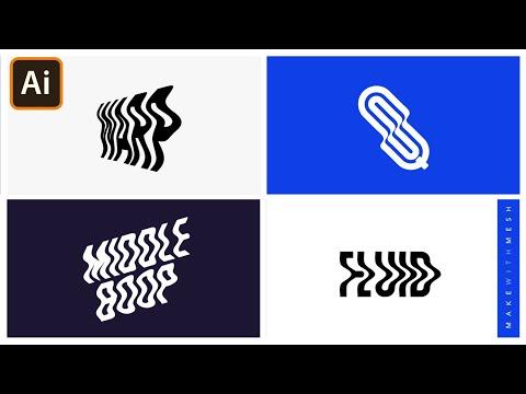 Warp Text in Adobe Illustrator | Make with Mesh | Graphic design