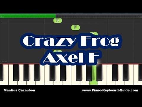 Crazy Frog Axel F Slow Easy Right Hand Piano Tutorial Notes