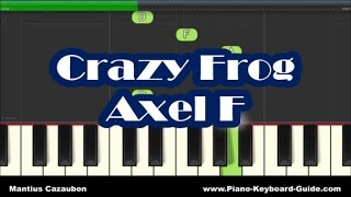 Crazy Frog - Axel F - Slow Easy Right Hand Piano Tutorial - Notes
