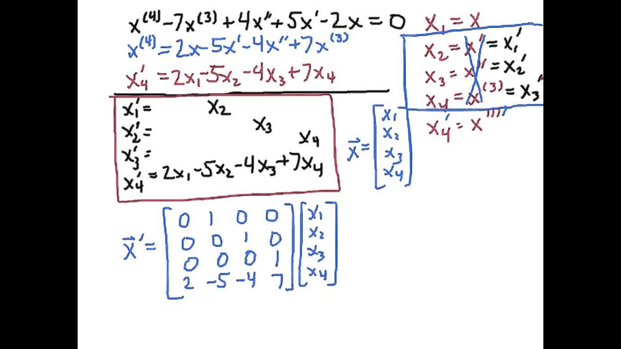 systems of odes first order linear equations Math 23 differential equations cj sutton systems of first order odes, part i second-order linear odes are really just systems of first-order linear odes.