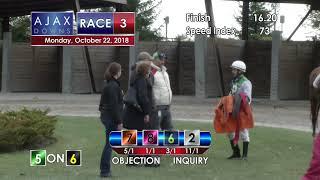 Ajax Downs Oct 22 2018   Race 3
