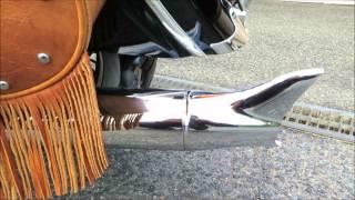 2014インディアンモーターサイクル/チーフヴィンテージ/純正オプションサイレンサー(マフラーカスタム)プラスフィッシュテールのエンジンサウンド
