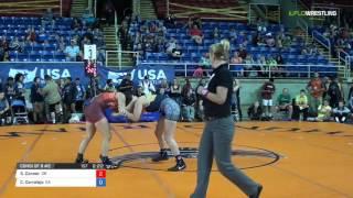 Junior WM 132 Consi of 8 #2 - Sarah Conner (OR) vs. Candice Corralejo (CA)