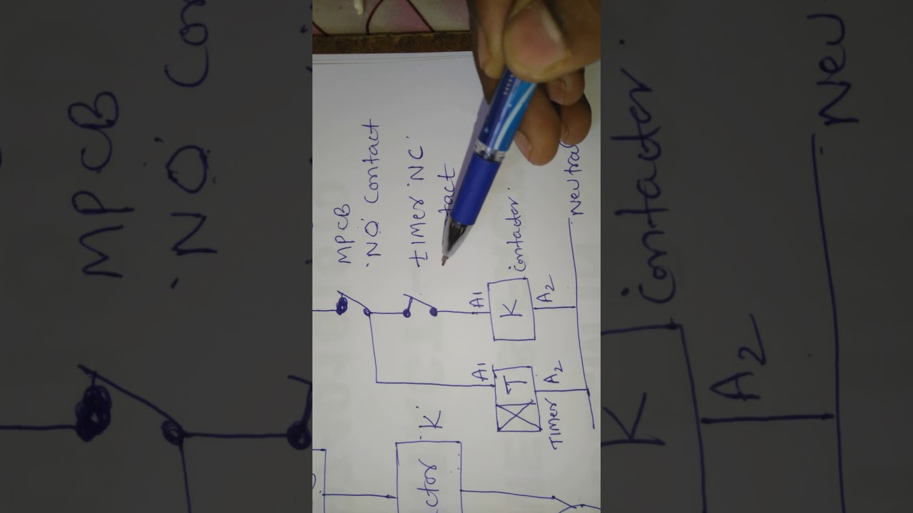 Dol Starter With Timer Circuit Youtube