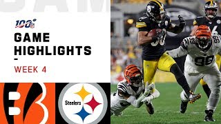 Bengals vs. Steelers Week 4 Highlights | NFL 2019
