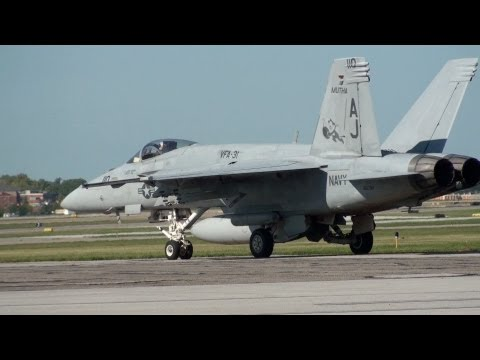 F18 Engine Start and Take Off
