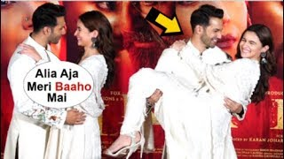 Varun Dhawan And Alia Bhatt's ROMANTIC Moment Picks Her Up In Front Of Everyone At Kalank Trail