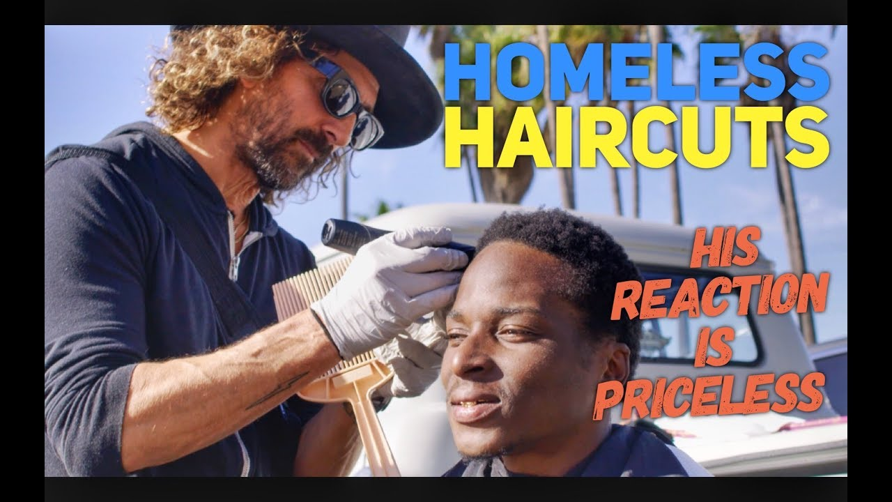 Haircuts For The Homeless In Los Angeles Youtube