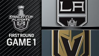 Golden Knights shut out Kings in first playoff game