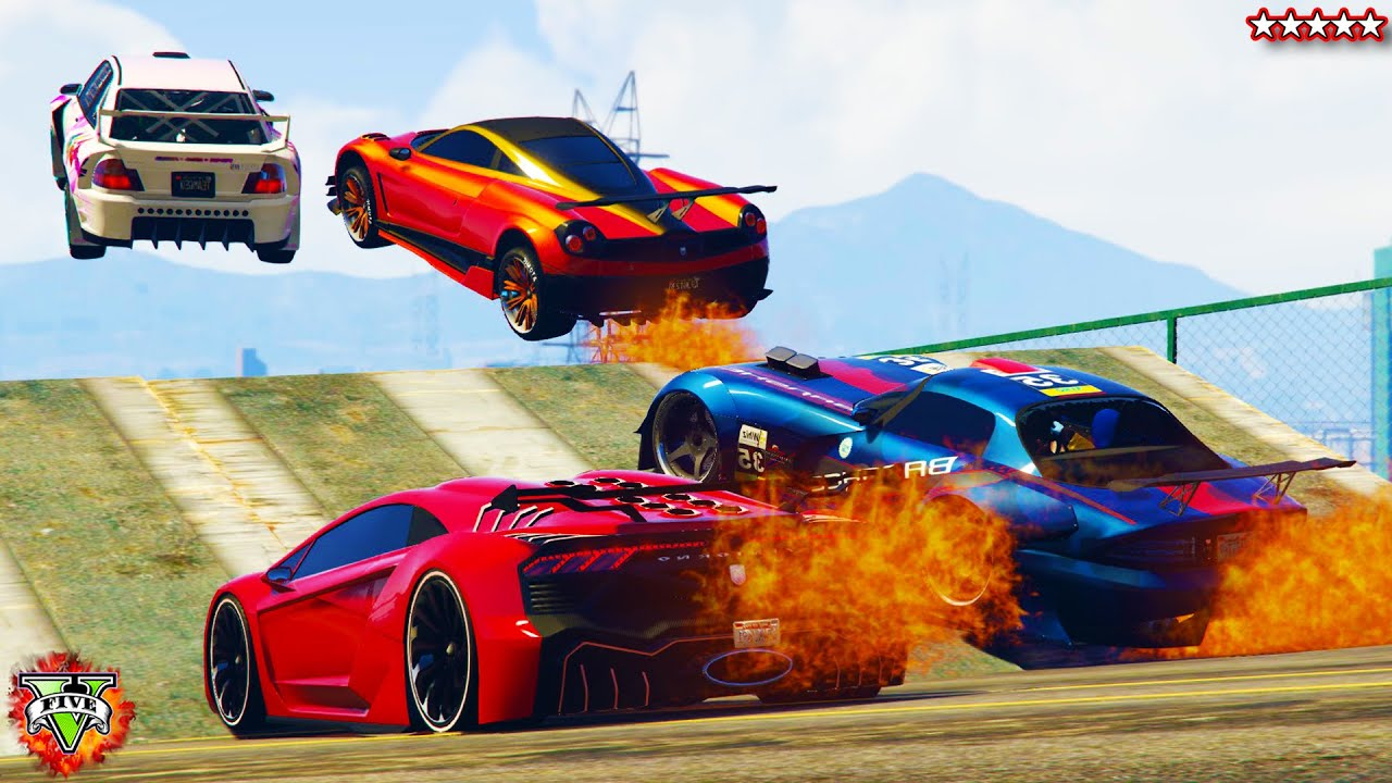 Gta Super Cars On Fire Epic Races Fun Explosions Youtube