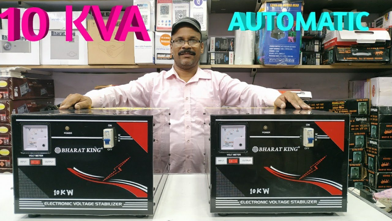BHARAT ELECTRONICS BEST AUTOMATIC STABILIZER 100 PERCENT COPPER PRICE-13500 10KV STABILIZER BUY DJ