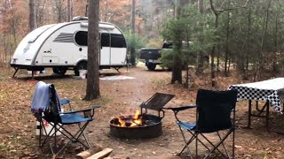 Fall Camping in the WOODS at Lake Wissota State Park WI Campground