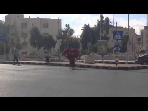 The flying turtle spreading love in amman