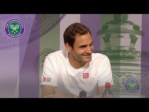 Roger Federer Fourth Round Press Conference Wimbledon 2019
