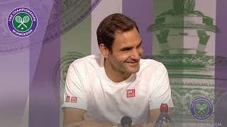 Roger Federer Fourth Round Press Conference Wimbledon 2019