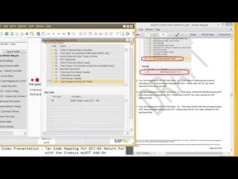 How To Create - Tax Code Mapping for GST03 Return with Croesus myGST Addon