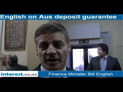 Bill English On The Deposit Guarantee Scheme