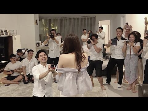 EPIC Marriage Proposal In A Fake Party