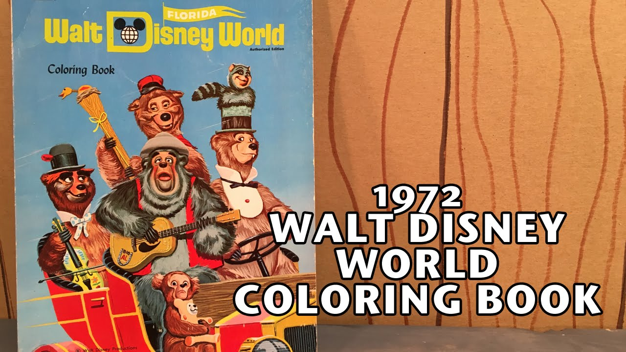 Vintage Whitman 1972 Walt Disney World Coloring Book - Country Bear Jamboree Collector Show #047