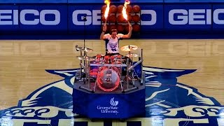 Drum Cover Mashup & LIVE FIRE DRUMMING @ Georgia State Halftime Show