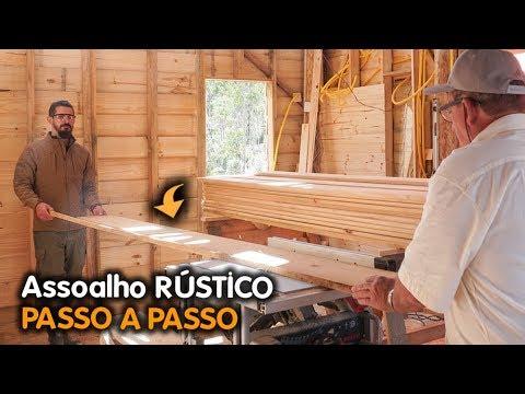 Como Fizemos Assoalho De Madeira Rústico E Barato FAMÍLIA X PRIMITIVE #DIY #CASADEMADEIRA