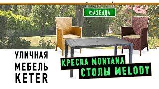 «KETER»: кресла «Montana» и столы «Melody». Для сада.