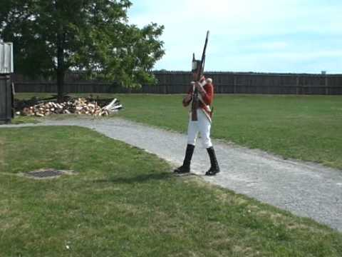 Musket demonstration at Fort George