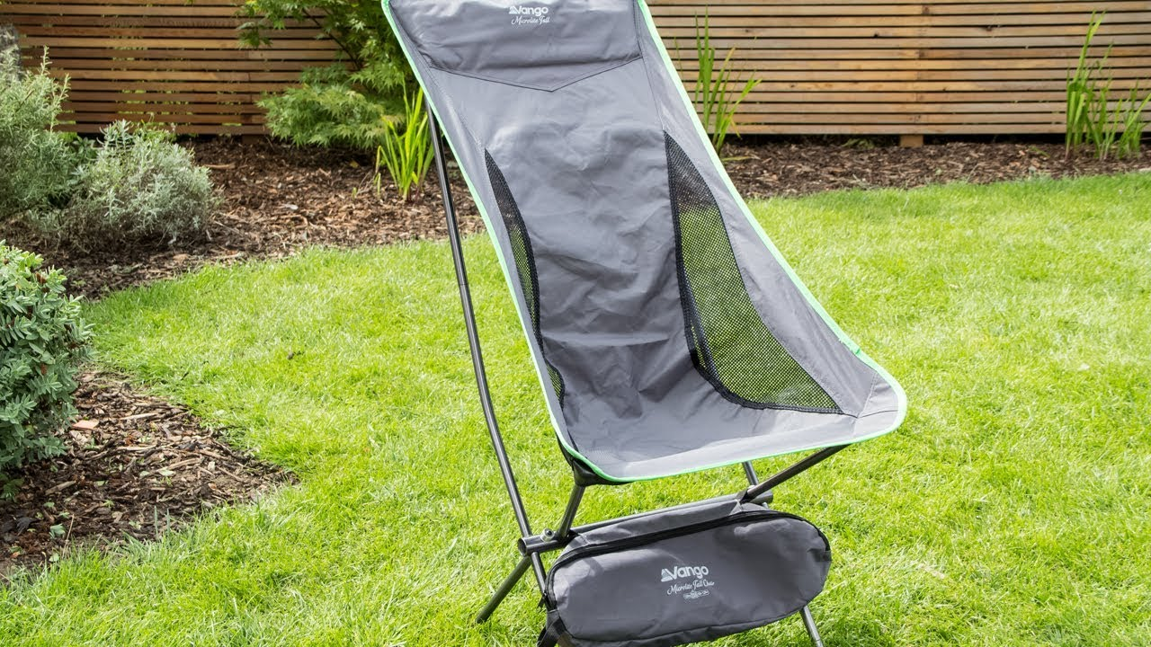 Vango Microlite Tall Camping Chair Assembly U0026 Review