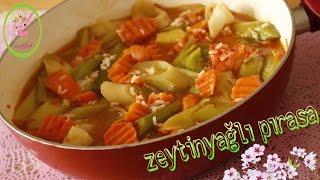 Zeytinyağlı Pırasa Yemeği Nasıl Yapılır?/sağlıklı Yemekler/Şefaf Mutfak