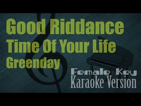 Greenday - Good Riddance (Time Of Your Life) Female Key Karaoke Version   Ayjeeme Karaoke