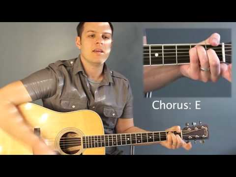 Mighty To Save (Hillsong United) - Tutorial with chord chart - YouTube