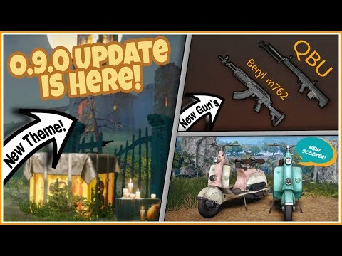 Pubg Mobile 0.9.0 UPDATE IS HERE! (2)Two New GUN'S | New VEHICLE! HALLOWEEN THEME & Lots More!