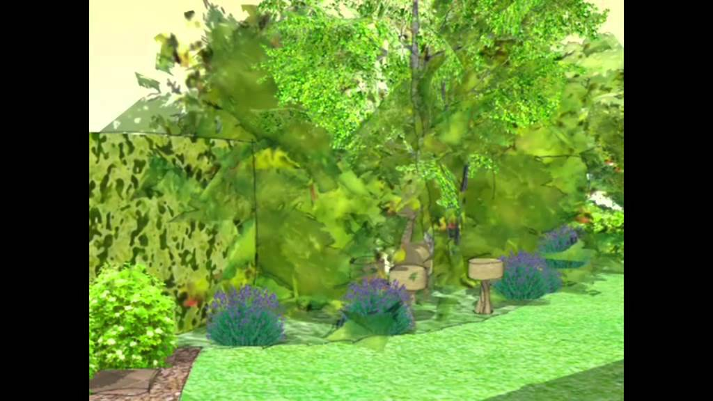garden design SketchUP - YouTube