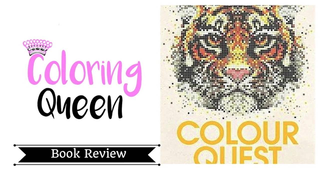 Colour Quest Coloring Book Review Youtube