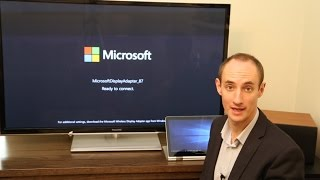 Connecting to a Microsoft Wireless Display Adapter