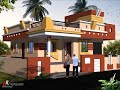 single story house design in indian style