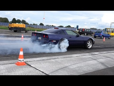 Corvette C4 Drag Race Acceleration & Sound