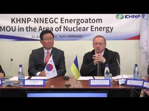 Енергоатом та KHNP підписали меморандум про взаєморозуміння в галузі атомної енергетики