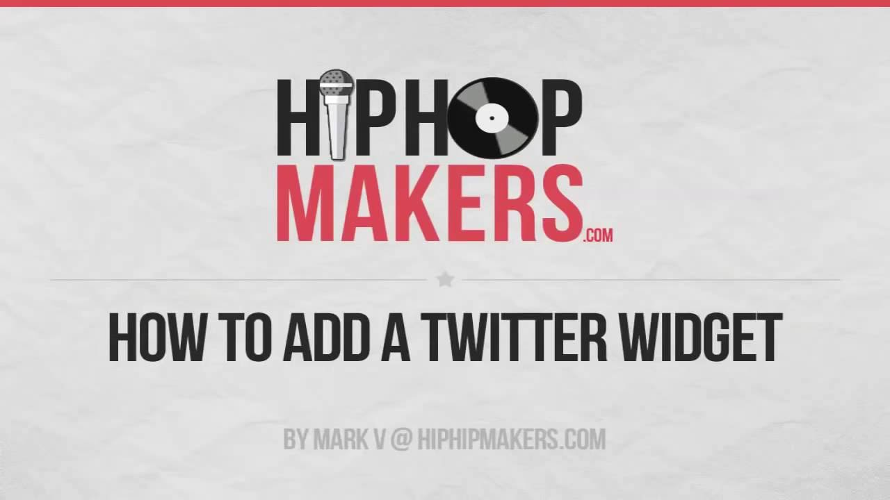 How to Add the Twitter Widget to Your Website or Blog - YouTube