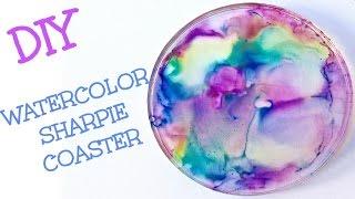 Diy Watercolor Sharpie Coasters   Craft Klatch Another Coaster Friday