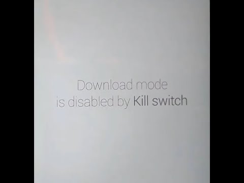 How To Fix Download Mode Is Disabled By Kill Switch On LG Phone - LG Mcafee Bypass