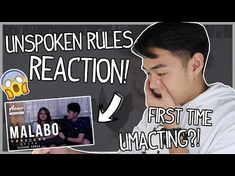 "ME REACTING TO Unspoken Rules S3: ""Malabo"" 