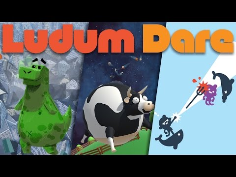 Ludum Dare Games - Yet Another Godzilla Game/Cowmets/Flat Earths [Twitch Highlight]