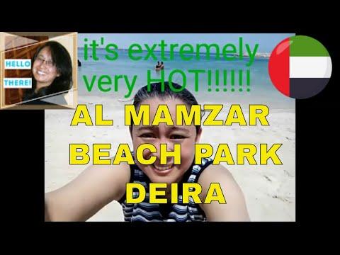 Al Mamzar Beach Park, Deira Dubai UAE for picnic (going to Al Mamzar beach by RTA Bus.) Nice beach!