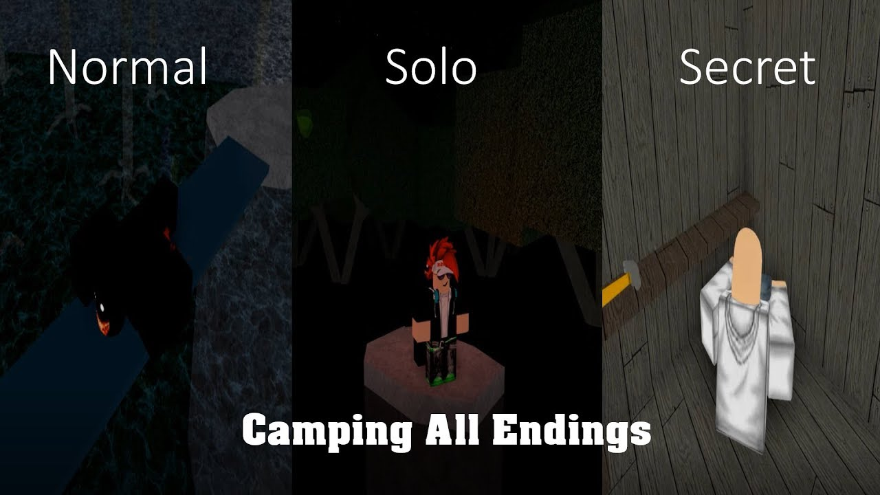 Roblox Camping All Endings Remastered Youtube